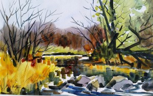 Pigeon River watercolor